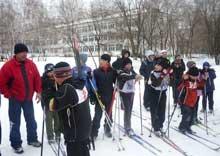 Cоревнования  кубка по лыжным гонкам «Юный олимпиец»