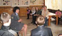 Встреча школьного отряда ЮИД с сотрудником Госавтоинспекции