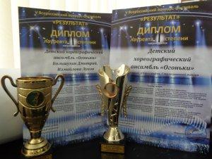 Новая победа школьного хореографического ансамбля